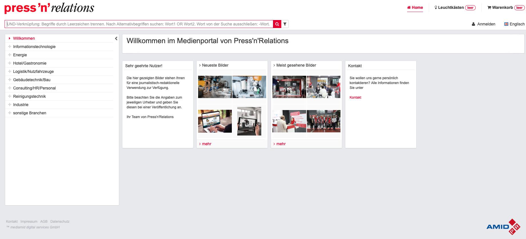 Mit AMID PR, der Mediathek von PressFile, Content online verteilen