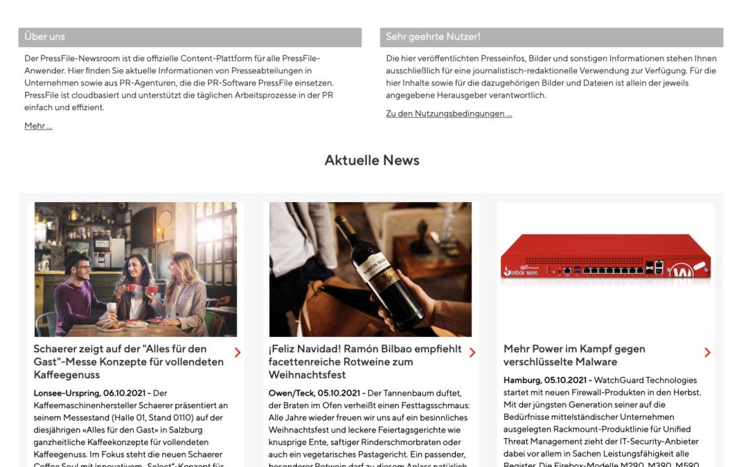 Eins, zwei, drei, vier: PressFile jetzt mit Multi-Newsroom-Option